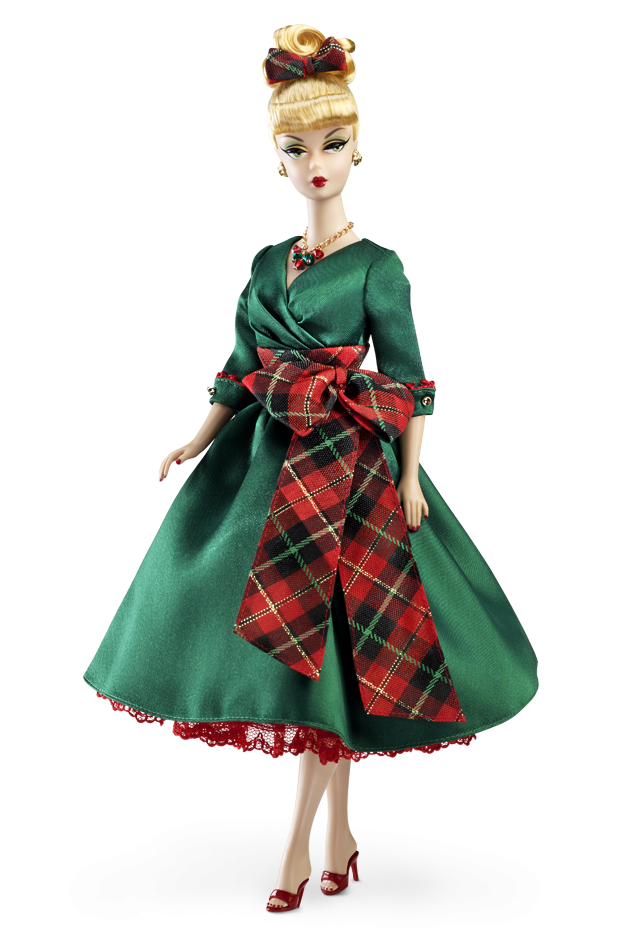 barbie christmas 2012 - Green Christmas Dress