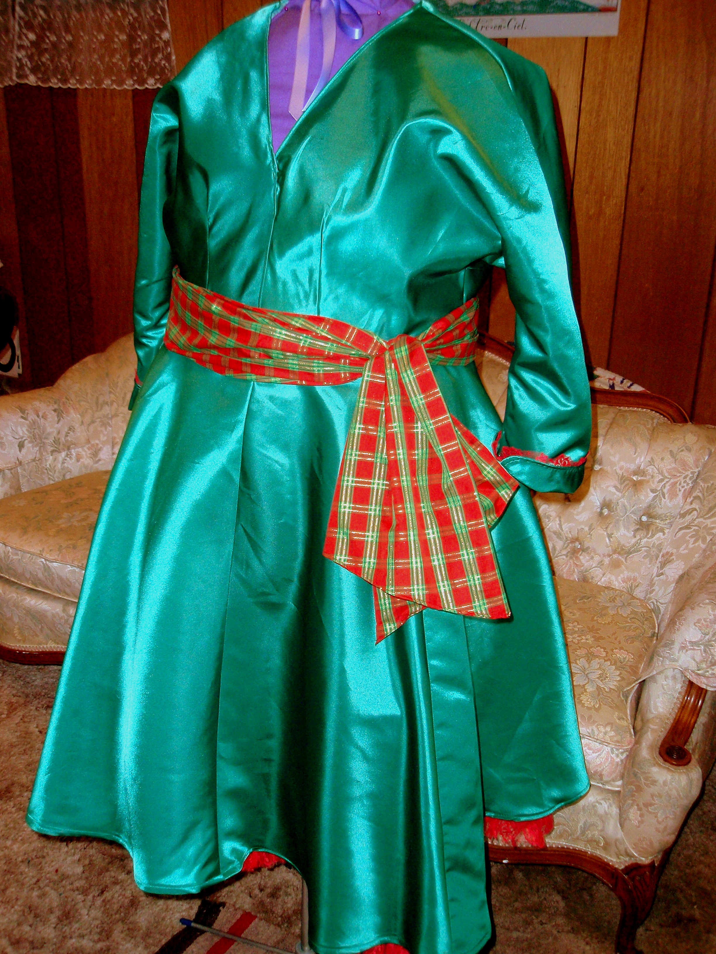 1955 Christmas Dress, First version