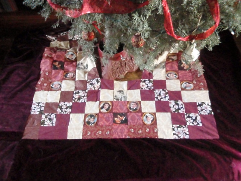 Gone With the Wind Quilted Tree Skirt