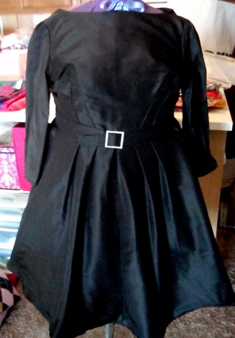 Midnight Blue Silk Faille 60s dress