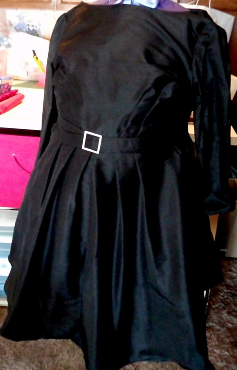 Silk Faille 60s Retro Dress