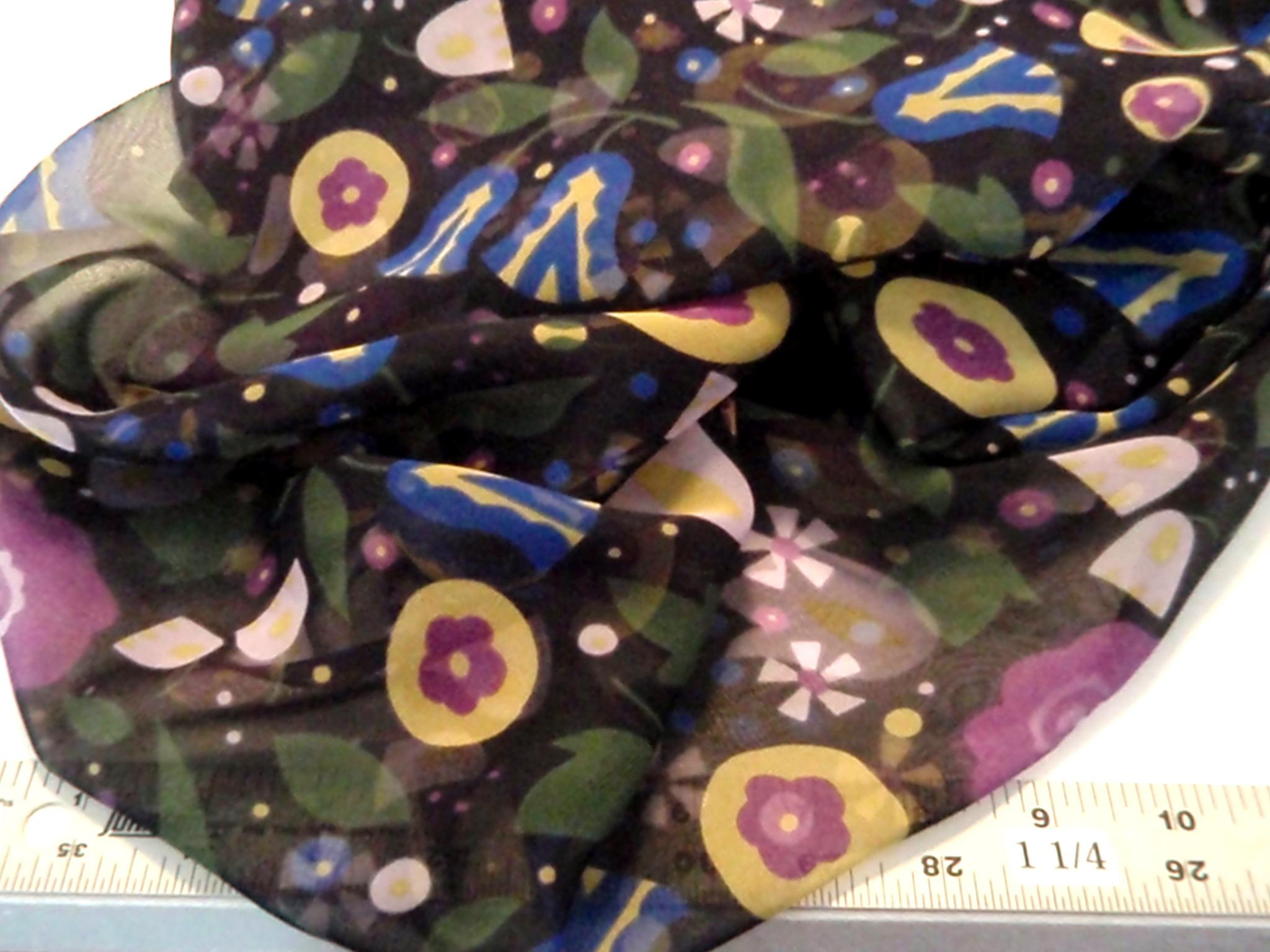Anna Sui silk chiffon