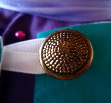 Vintage brass button