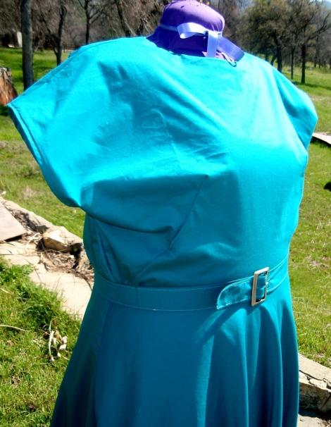 1940 Peacock blue dress