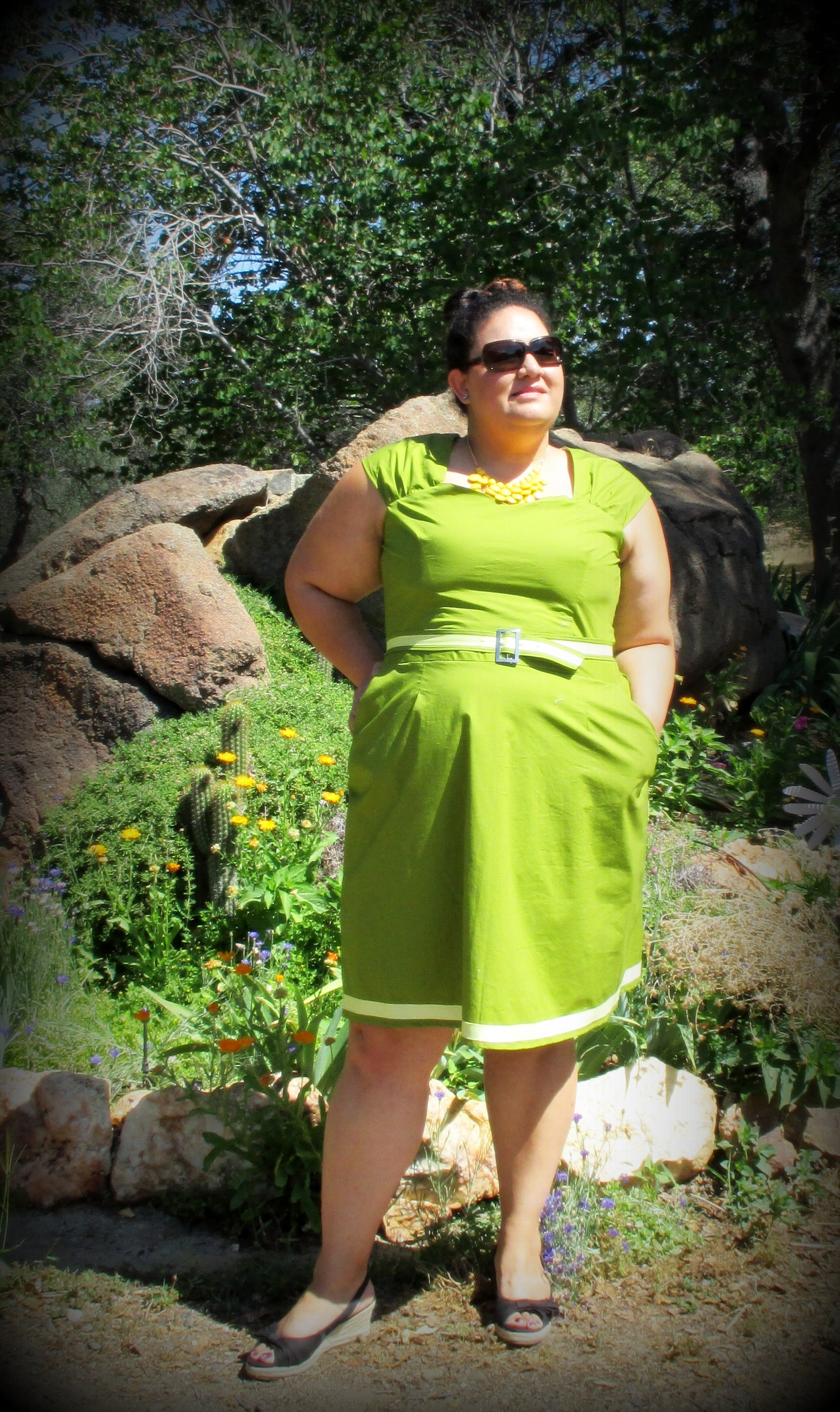 Avocado green Cambie dress