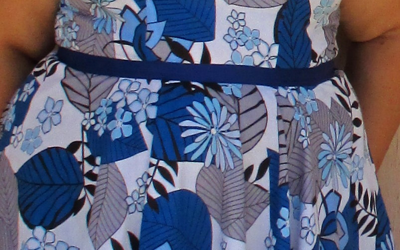 Blue jungle print cotton lawn