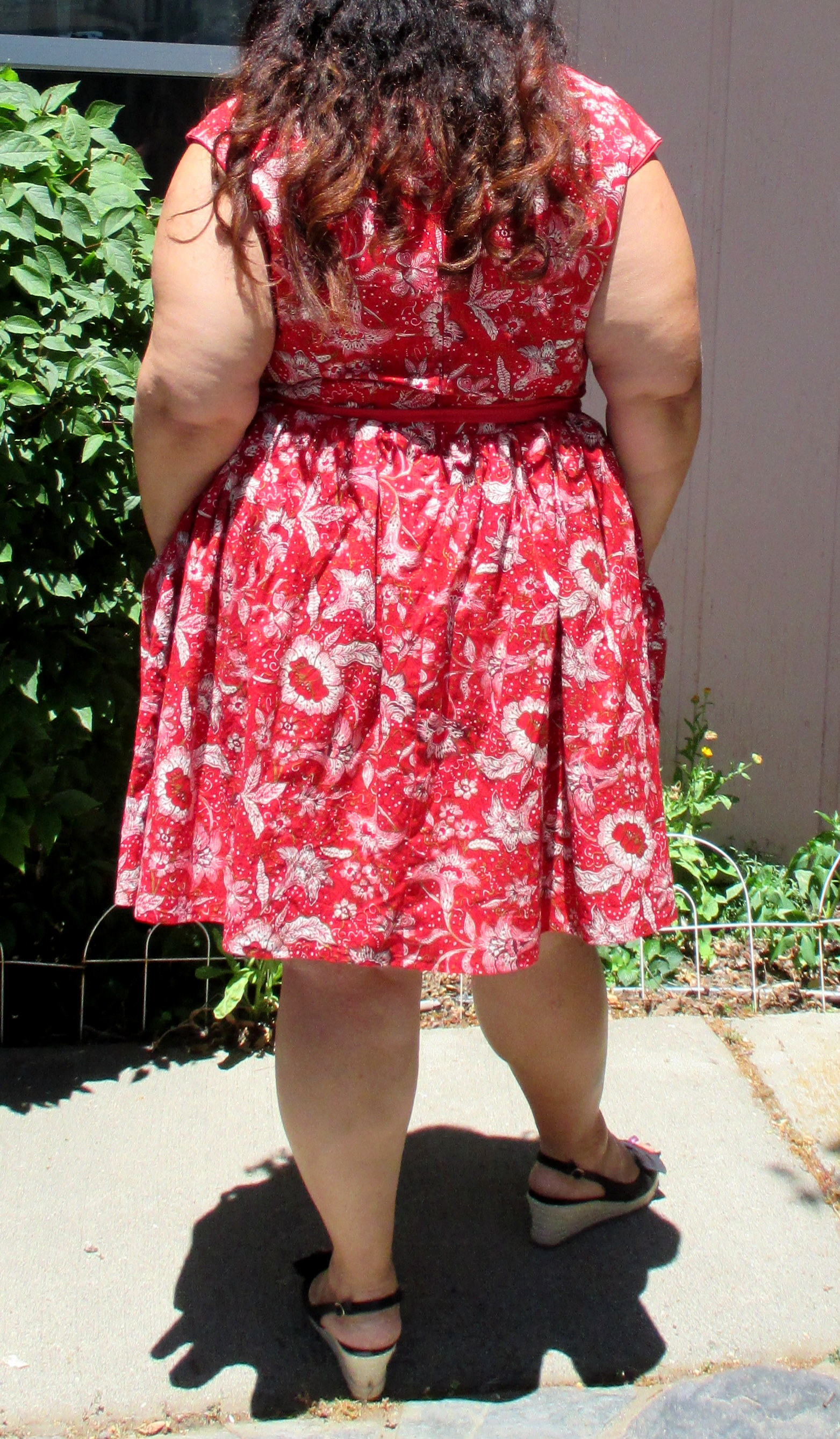 Red paisley Cambie dress