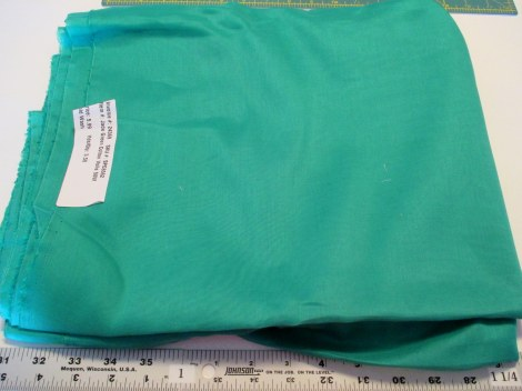 Jade green cotton voile