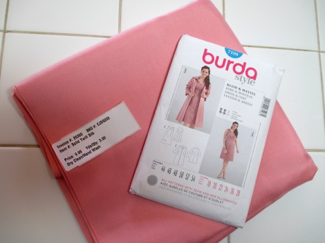 Rose silk twill and Burda 7109
