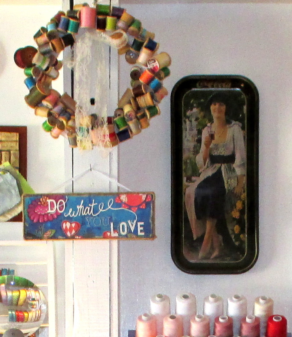 sewing room decor