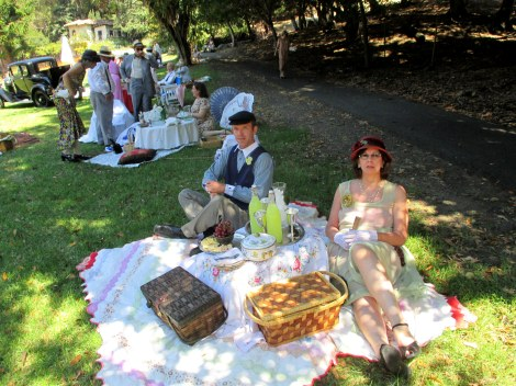 my husband Brian and his mom, Alana and our picnic