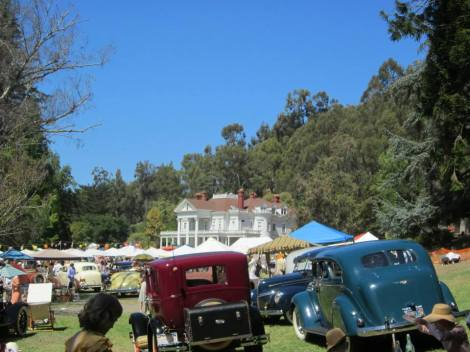 dunsmuir hellman mansion and cars
