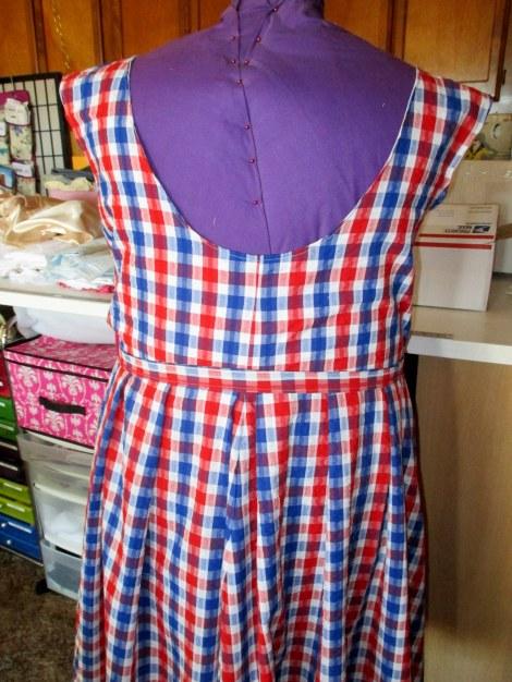 seersucker dressform back