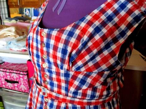seersucker dressform bodice