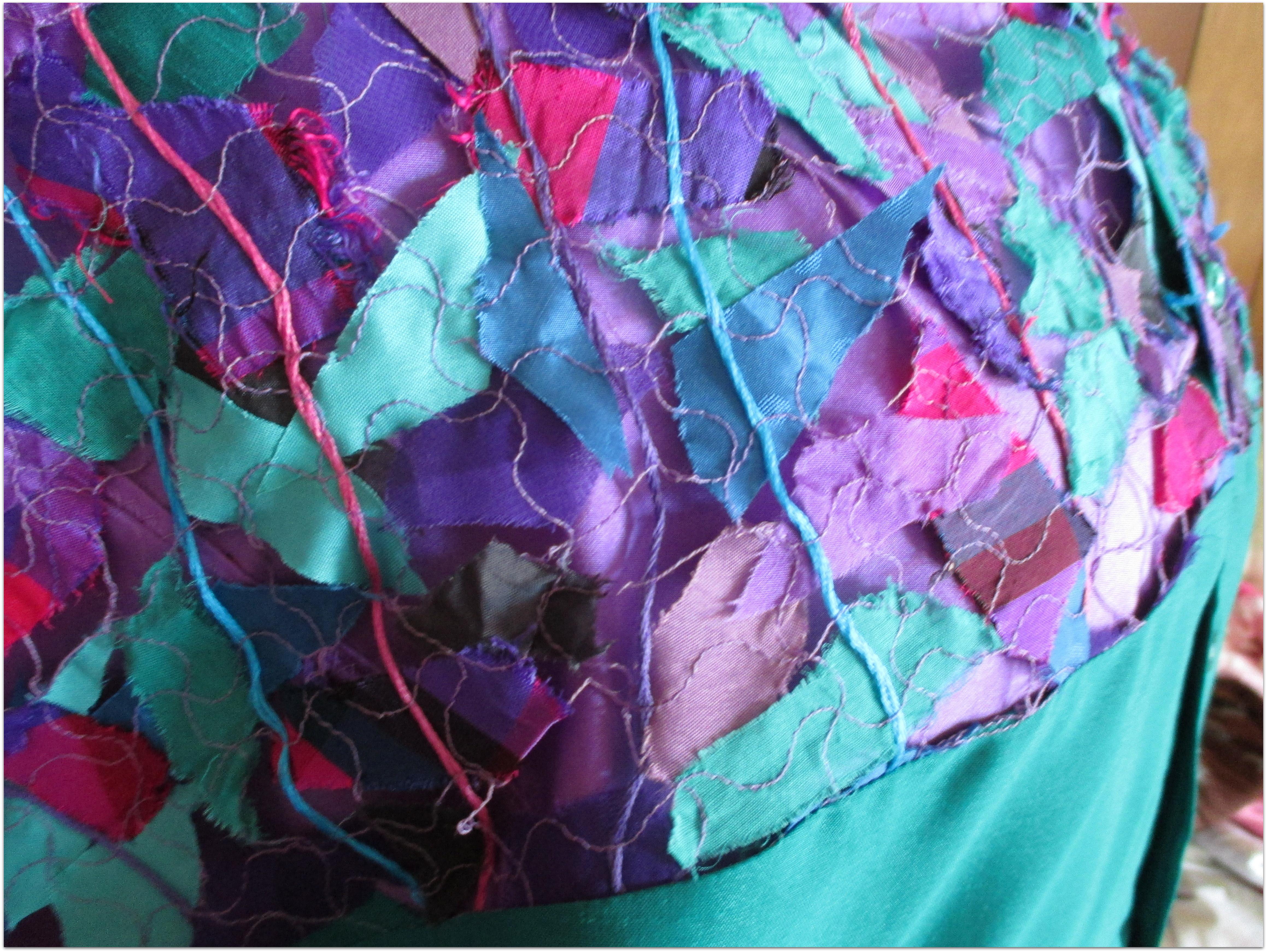 Scrap lace detail