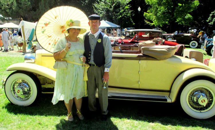 Mr and Mrs Hughes in 1920s afternoon attire at the Gatsby Summer Afternoon 2013